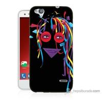 Bordo Turkcell T60 Kapak Kılıf Renkli Kız Baskılı Silikon