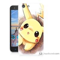Bordo Turkcell T70 Kapak Kılıf Pokemon Resim Baskılı Silikon
