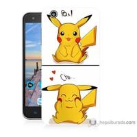 Bordo Turkcell T70 Kapak Kılıf Pokemon Görsel Baskılı Silikon