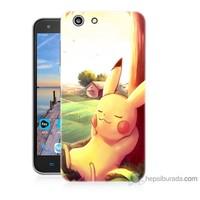 Bordo Turkcell T70 Kapak Kılıf Pokemon Doğa Baskılı Silikon