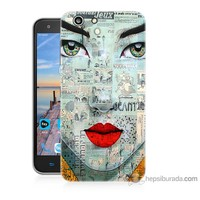 Bordo Turkcell T70 Kapak Kılıf Karikatür Yüz Baskılı Silikon