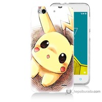 Bordo Vodafone Smart 6 Kapak Kılıf Pokemon Resim Baskılı Silikon