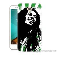 Bordo Vodafone Smart Style 7 Kapak Kılıf Bob Marley Soft Baskılı Silikon