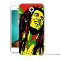Bordo Vodafone Smart Style 7 Kapak Kılıf Bob Marley Baskılı Silikon