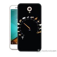 Bordo Vodafone Smart Style 7 Kapak Kılıf Hız Baskılı Silikon
