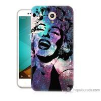Bordo Vodafone Smart Style 7 Kapak Kılıf Marilyn Monroe Baskılı Silikon