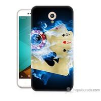 Bordo Vodafone Smart Style 7 Kapak Kılıf Dumanlı İskambil Baskılı Silikon