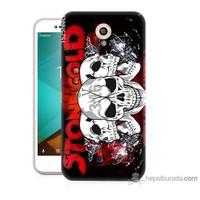 Bordo Vodafone Smart Style 7 Kapak Kılıf Yazılı Kuru Kafa Baskılı Silikon