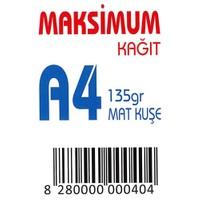 Maksimum A4 Kuşe Kağıt Gramajlı Mat 135 Gr. 250 Adet
