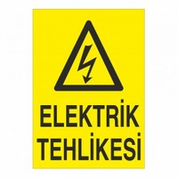 """Modülerteknik """"Elektrik Tehlikesi"""" 25X35cm"""