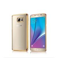 Samsung S7 Altın Renkli Gold Yumuşak Şeffaf Kılıf cin33sr