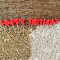 12 Parça Happy Candle Happy Birthday Kırmızı Mum Seti mm004