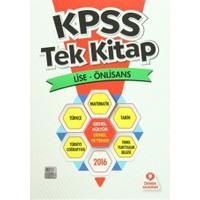 KPSS Tek Kitap Lise - Önlisans 2016 Genel Kültür - Genel Yetenek