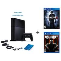 Sony Playstation 4 500 Gb Oyun Konsolu + Cod Black Ops 3 + Uncharted 4 ( Türkçe Dublaj )