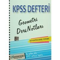 2016 KPSS Genel Yetenek Geometri Ders Notları Defteri