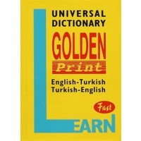 Universal Dictionary Golden Print English-Turkish Turkish-English Fast