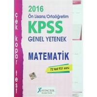 2016 KPSS Ön Lisans / Ortaöğretim Genel Yetenek Matematik Çek Kopar Test