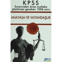 Altı Şapka KPSS Anayasa ve Vatandaşlık Sınavdan Önce Çözülmesi Gereken 1006 Soru