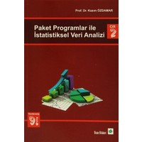 Paket Programlar ile İstatiksel Veri Analizi Cilt 2