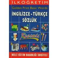İlköğretim Golden Print Basic Words İngilizce - Türkçe Sözlük