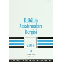 Dilbilim Araştırmaları Dergisi: 2014 / 2 (Özel Sayı)