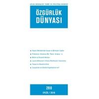 Özgürlük Dünyası Aylık Sosyalist Teori ve Politika Dergisi Sayı : 280 - Eylül 2016