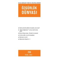 Özgürlük Dünyası Aylık Sosyalist Teori ve Politika Dergisi Sayı : 256 - Eylül 2014