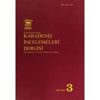 Uluslararası Karadeniz İncelemeleri Dergisi / İnternational Journal Of Black Sea Studies Sayı: 3