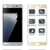 Microsonic Samsung Galaxy Note Fan Edition Dual Sim 3D Kavisli Temperli Cam Ekran koruyucu Film Siyah