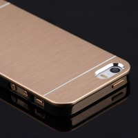 Microsonic Apple iPhone SE Kılıf Hybrid Metal Gold
