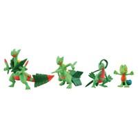 Takara Tomy Pokemon Figür 4'Lü Evolution Set: Treecko,Grovyle,Sceptile,Mega Sceptile