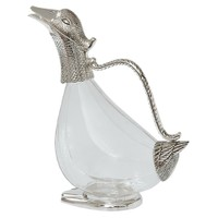 Gümüş Cam Ördek Kana Sürahi
