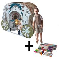 İkisi Bir Arada : Prenses Arabası + Craft&Arts Jel Mum Boya 12'Li Set