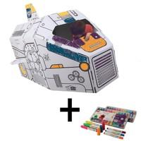 İkisi Bir Arada : Uzay Mekiği + Craft&Arts Jel Mum Boya 12'Li Set