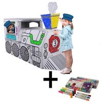 İkisi Bir Arada : Yolcu Treni + Craft&Arts Jel Mum Boya 12'Li Set