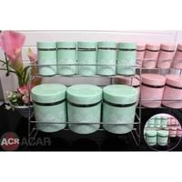 Acr Porselen Baharat Takımı 8 Parça Yeşil