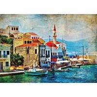 Gold Puzzle 1000 Parça Akdeniz'de Sahil Kasabası Puzzle
