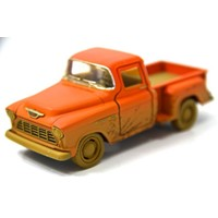 Turuncu - 1955 Chevy Stepside Pick-up 1:32 Çamurlu Metal Araba