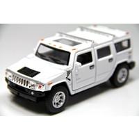 Kinsmart 2008 Hummer H2 SUV (Beyaz) 1:40 Metal Çek Bırak Araba