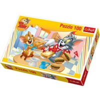 100 Parça Tom ve Jerry Çocuk Puzzle : Trefl 16196