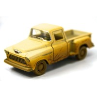 Krem - 1955 Chevy Stepside Pick-up 1:32 Çamurlu Metal Araba