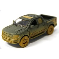 Siyah - 2013 Ford F-150 SVT Raptor Super Crew 1:46 Metal Araba