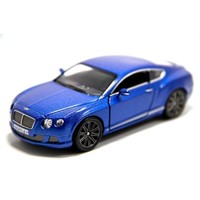 Mavi - 2012 Bentley Continental GT Speed 1:38 Çek Bırak Model Araba