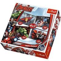 Trefl 34+48+54+70 Parça Avengers (Yenilmezler) Çocuk Puzzle