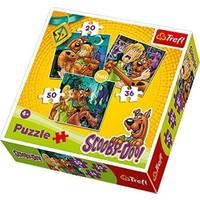 Scooby Doo 3'lü Puzzle Seti 20+36+50 Parça (Trefl 34145)