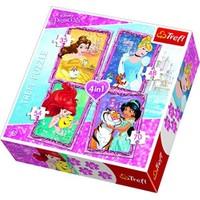 Trefl Prensesler Çocuk Puzzle (35+48+54+70 Parça)