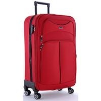 Ççs 095 4 Tekerlekli Büyük Boy Valiz Kırmızı