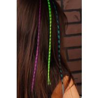 Morvizyon Renkli Desenli Bayan Saç Aksesuarı