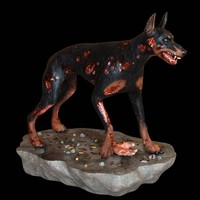 Hollywood Collectibles Resident Evil Zombi Köpek Figürü - Limited Edition