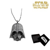 Sd Toys Darth Vader Head Silver Plated Necklace Kolye